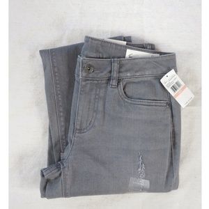 Two by Vince Camuto Destroyed Skinny Jeans Gray